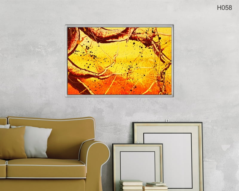 Quadro Decorativo Abstrato Cores Quentes