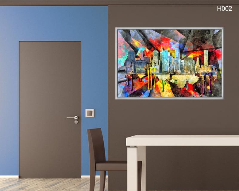 Quadro Decorativo Arte Abstrata Urbana Colorida
