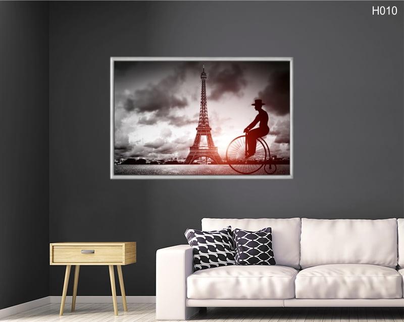 Quadro Decorativo Bicicleta Torre Eiffel