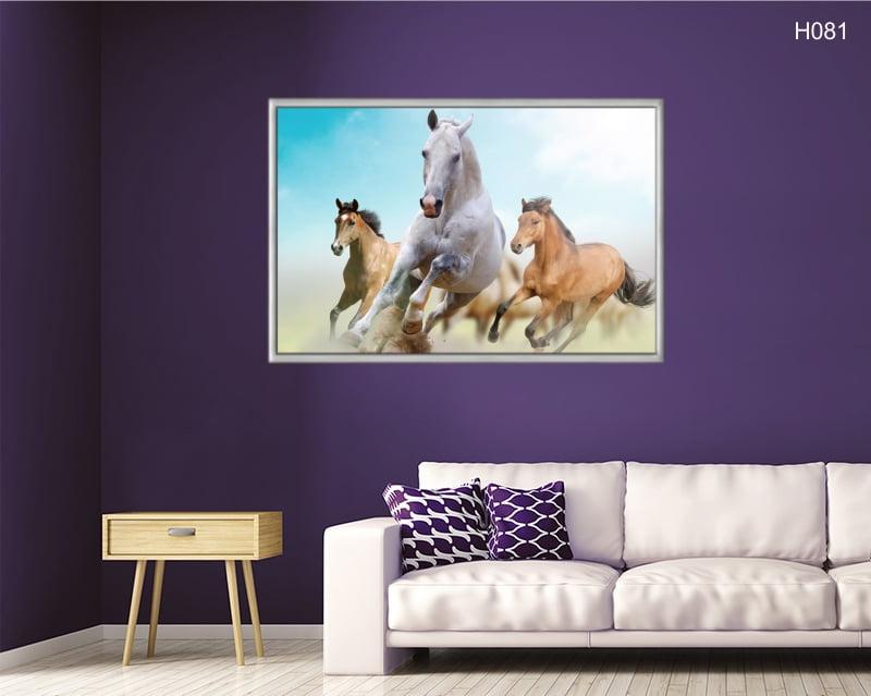 Quadro Decorativo Cavalos em Disparada