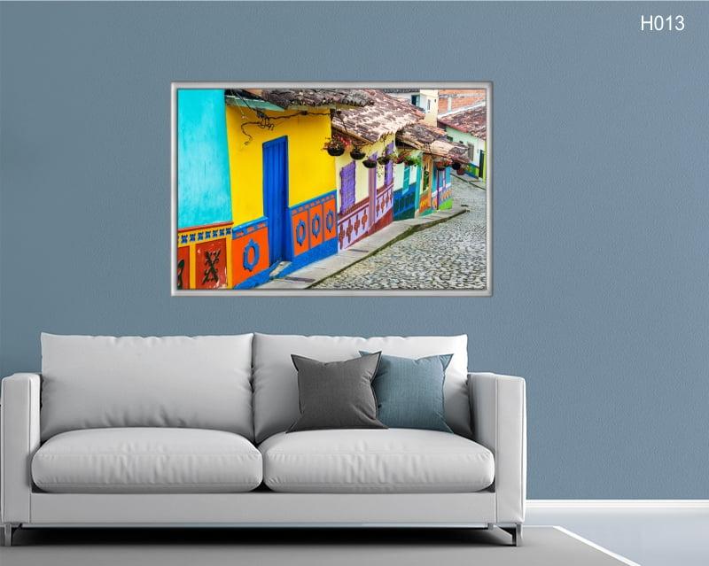 Quadro Decorativo Rua Colorida