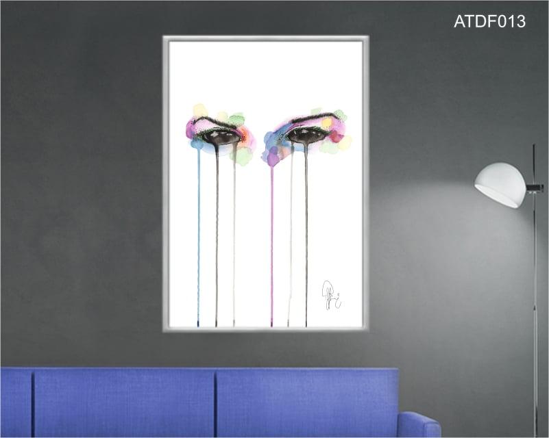 Quadro decorativo-Cor dos olhos escuros-Por Dado Ferrari
