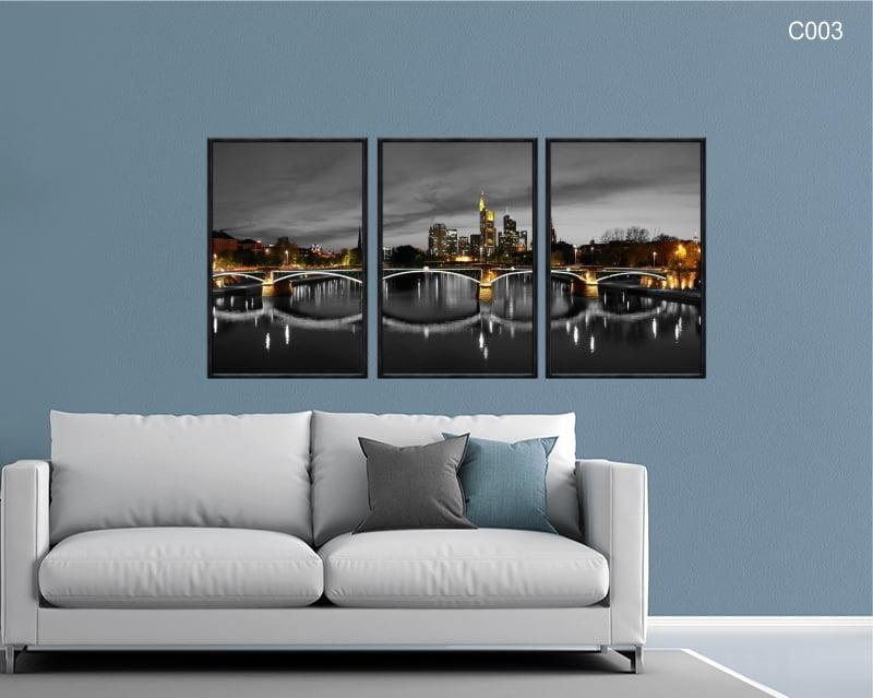 Conjunto de quadros - Ponte de Frankfurt