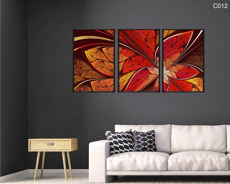 Conjunto de quadros - Borboleta abstrata vermelha