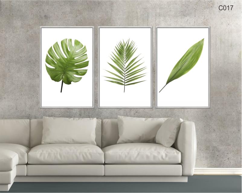 Conjunto de quadros - Folhas tropicais c017