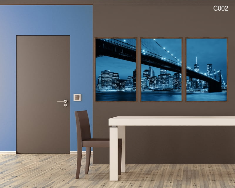 Conjunto de quadros - Ponte do Brooklyn