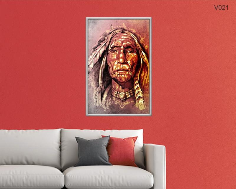Quadro Decorativo Chefe Indiano
