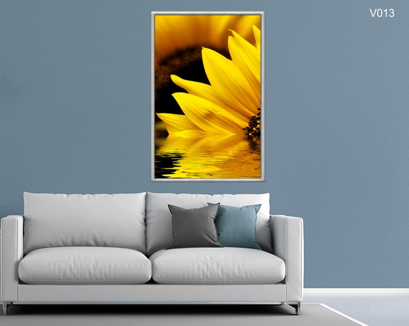 Quadro Decorativo Girassol Amarelo