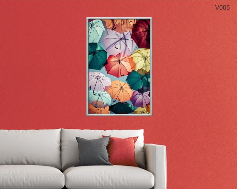 Quadro Decorativo Guarda Chuva Colorido