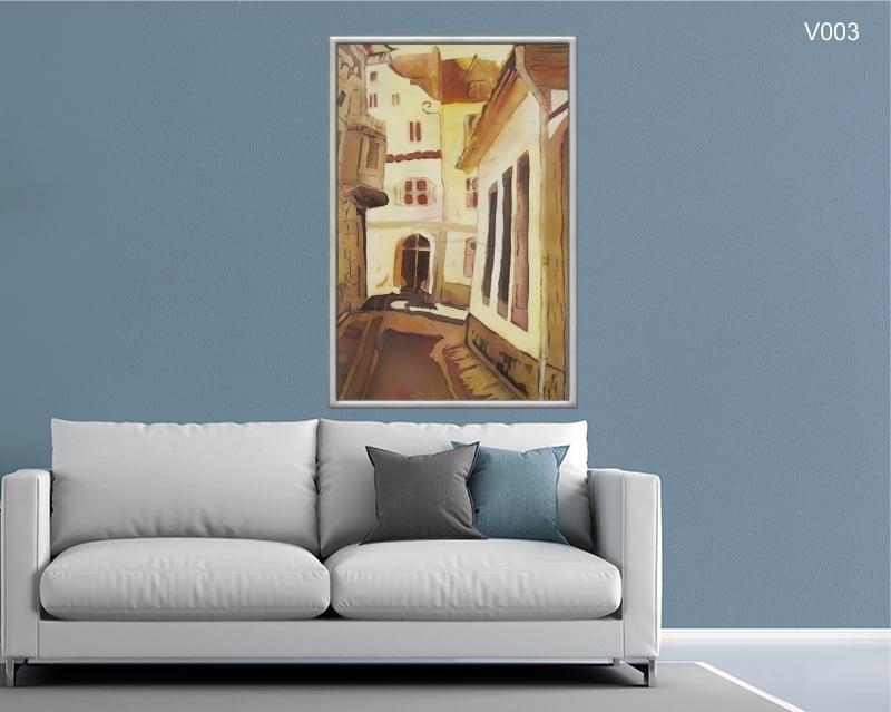 Quadro Decorativo Pintura Cidade Antiga