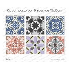 Adesivo Azulejo az011