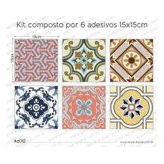 Adesivo Azulejo az012