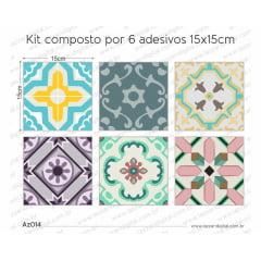 Adesivo Azulejo az014