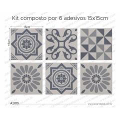 Adesivo Azulejo az015