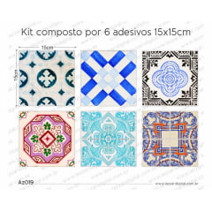Adesivo Azulejo az019