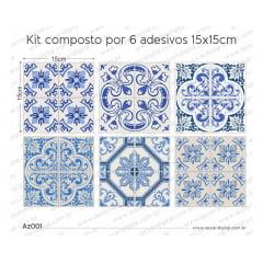 Adesivo Azulejo az001