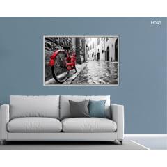 Quadro Decorativo Bicicleta Vermelha