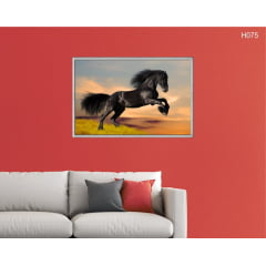 Quadro Decorativo Black Horse