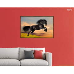 Quadro Decorativo Black Horse