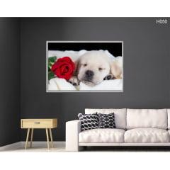 Quadro Decorativo Cachorro Romântico