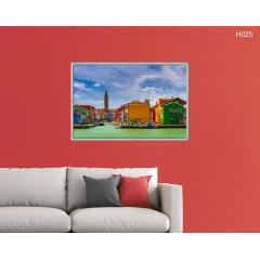 Quadro Decorativo Casas Coloridas