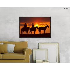 Quadro Decorativo Cowboy - Por do Sol