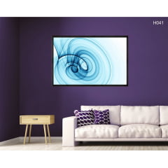 Quadro Decorativo Espiral Abstrato Azul