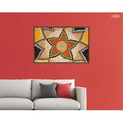 Quadro Decorativo Padrão Africano