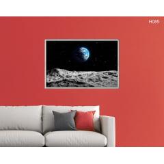 Quadro Decorativo Superfície Lunar