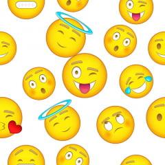 Papel de Parede Adesivo Abstrato Emojis