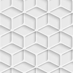 Papel de Parede Adesivo Abstrato Formas Cubo 3D