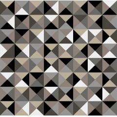 Papel de Parede Adesivo Abstrato Mosaico Aleatório Tons de Cinza