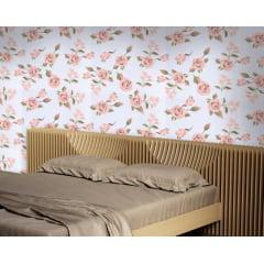 Papel de Parede Adesivo Floral Rosa ppf003