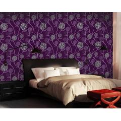 Papel de Parede Adesivo Floral Roxo ppf016
