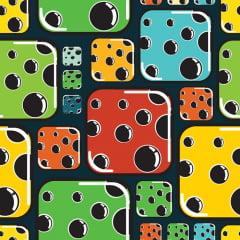 Papel de Parede Adesivo Infantil Dados Coloridos