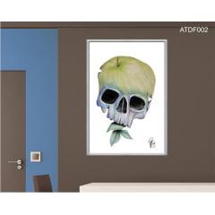 Quadro decorativo-Caveira Maçã-Por Dado Ferrari