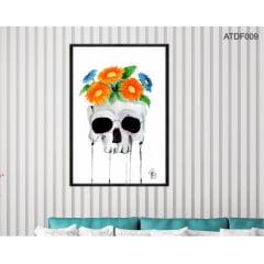 Quadro decorativo-Gérberas na cabeça -Por Dado Ferrari