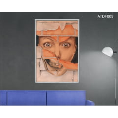 Quadro decorativo-Hole in my wall-Por Dado Ferrari