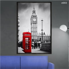 QUADRO DECORATIVO - CABINE TELEFONICA BIG BEN LONDRES