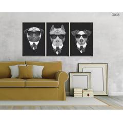 Conjunto de quadros - Cães Mafiosos
