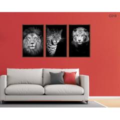 Conjunto de quadros - Ferozes e felinos