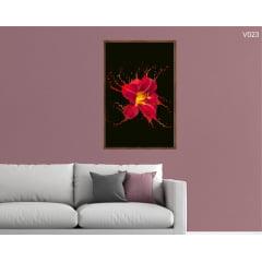 Quadro Decorativo Flor em Arte
