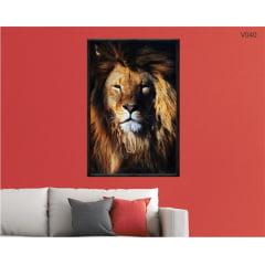 Quadro decorativo Leão Grande Rei v040