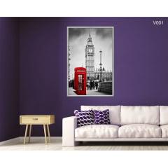 Quadro Decorativo Londres Cabine Fotográfica