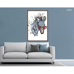 Quadro Decorativo Zebra Moderna